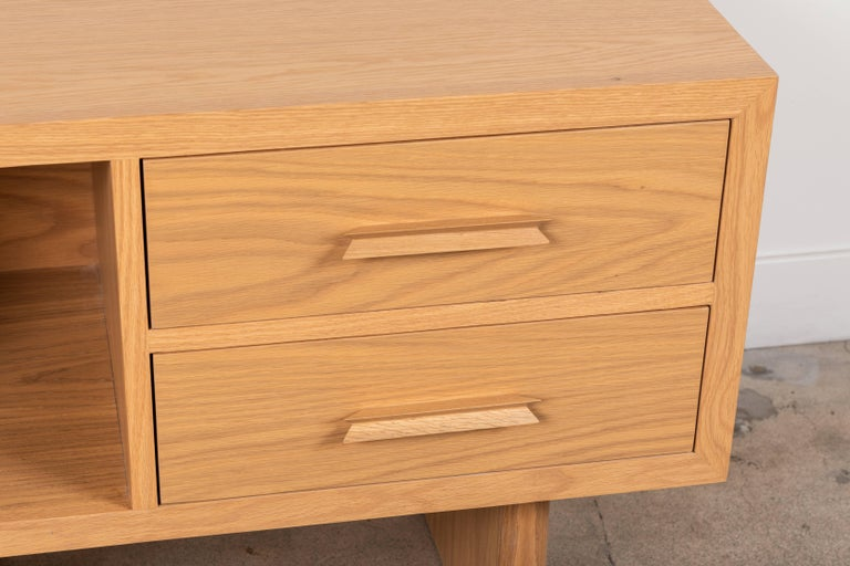 Contemporary Natural Oak Inverness Nightstands by Lawson-Fenning For Sale