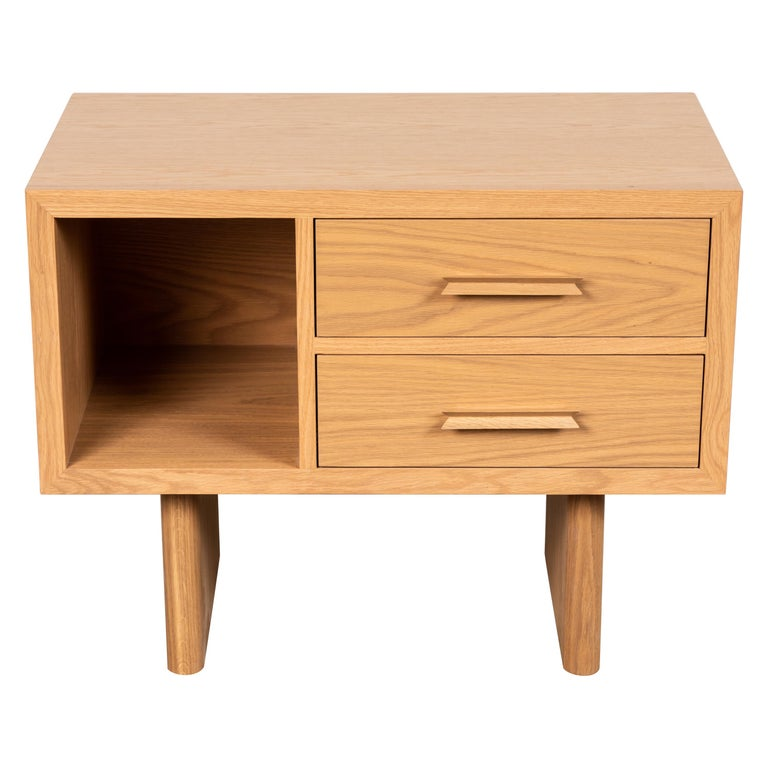 Natural Oak Inverness Nightstands by Lawson-Fenning For Sale