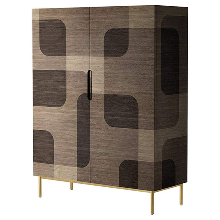 Natural Patterned Wood Cabinet from Bodega Collection by Joel Escalona
