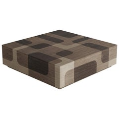 Natural Patterned Wood Coffee Table Bodega Collection by Joel Escalona