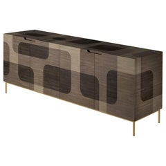 Natural Patterned Wood Credenza from Bodega Collection by Joel Escalona