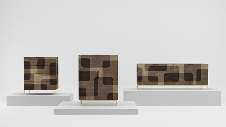 Mexican Natural Patterned Wood Dresser from Bodega Collection by Joel Escalona For Sale
