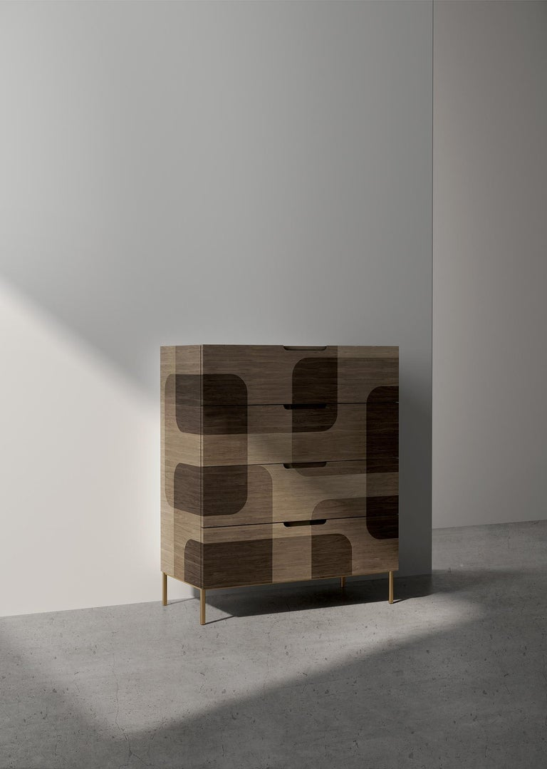 Natural Patterned Wood Dresser from Bodega Collection by Joel Escalona In New Condition For Sale In Mexico City, MX