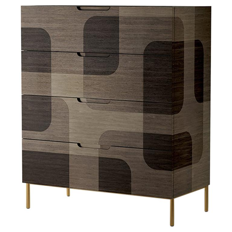 Natural Patterned Wood Dresser from Bodega Collection by Joel Escalona For Sale
