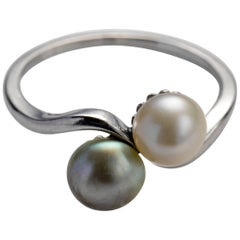 Natural Pearl Ring in Platinum GIA Certified Art Deco