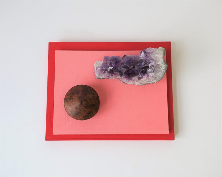 Natural Purple Amethyst Decorative Object For Sale 5