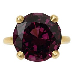 Natural Purple Spinel Gold Ring