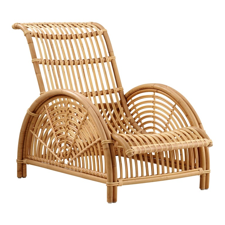 Natural Rattan Arne Jacobsen Indoor Paris Lounge Chair by Sika Design For Sale