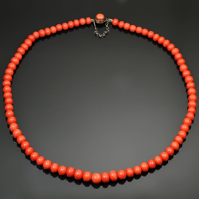 e0aa857107cdb Natural Red Coral Bead Necklace
