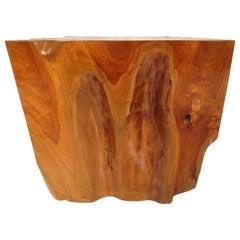 Natural Red Oak Slab Side Table