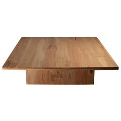 Natural Red Oak Square Coffee Table