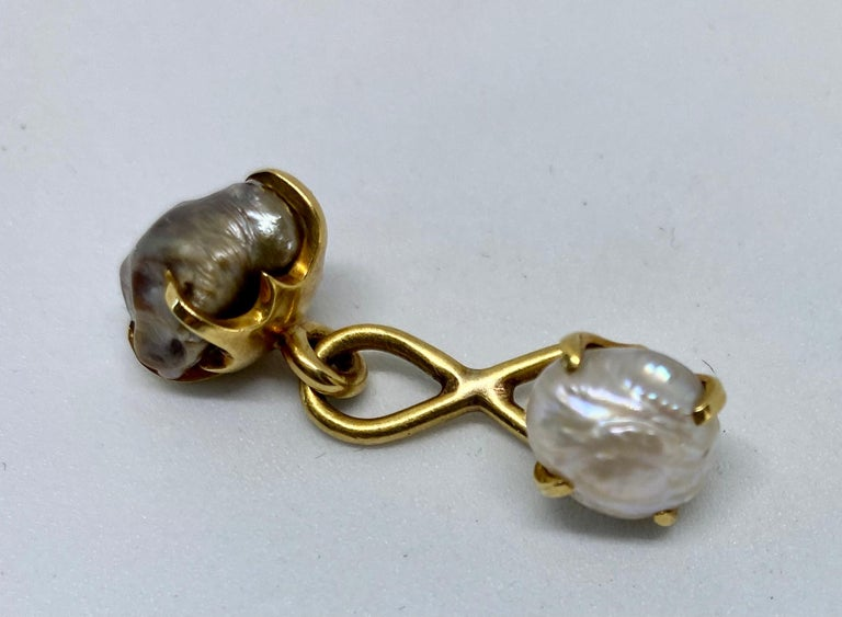 Natural River Pearl Cufflinks by Tiffany & Co. In Good Condition For Sale In San Rafael, CA