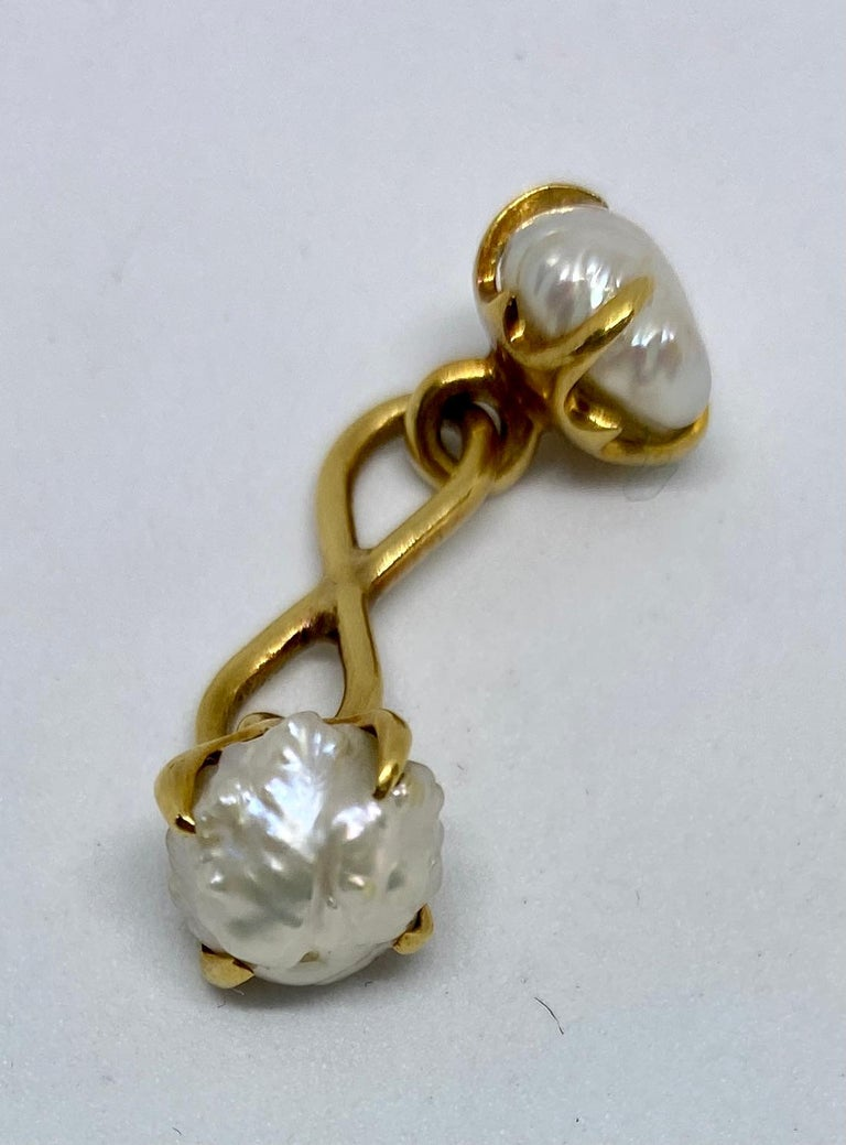 Natural River Pearl Cufflinks by Tiffany & Co. For Sale 2