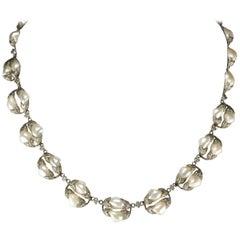 Natural River Pearl Necklace is Art Nouveau Jewel