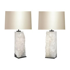Natural Rock Crystal Lamps by Phoenix