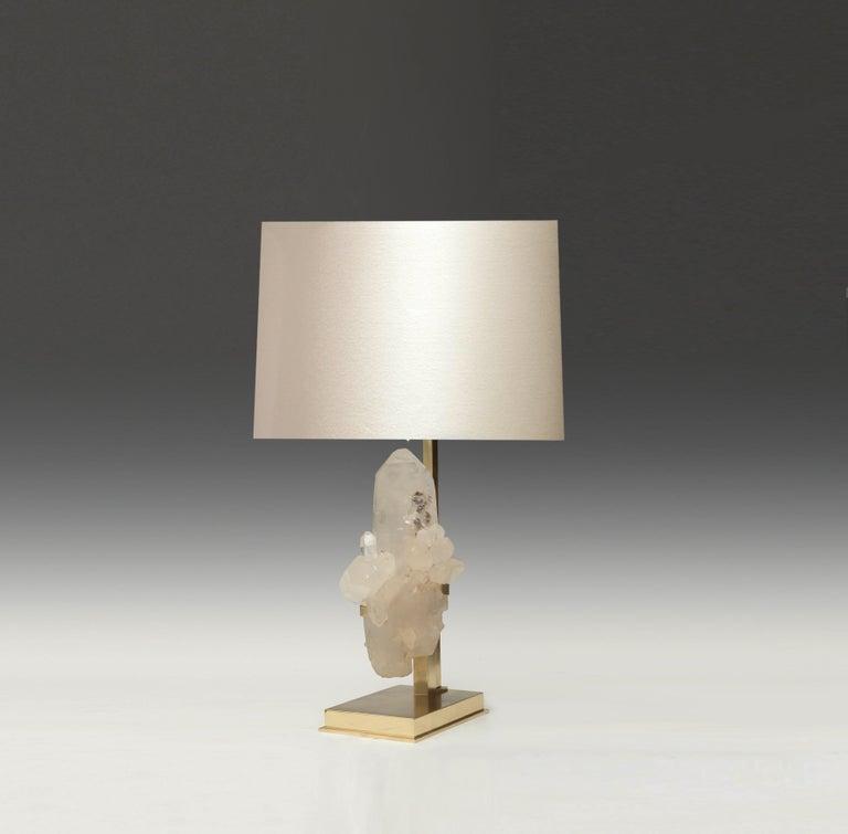 Natural Rock Crystal Sculpture Lamp For Sale 1
