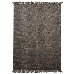 Natural Rock Patterns Customizable Mars Weave Rug in Black Small