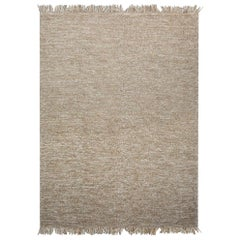 Natural Rock Patterns Customizable Mars Weave Rug in White Large