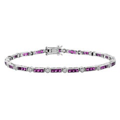 Natural Ruby Diamond Bracelet