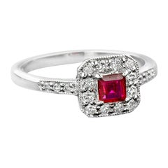 Natural Ruby Diamond Cocktail Ring