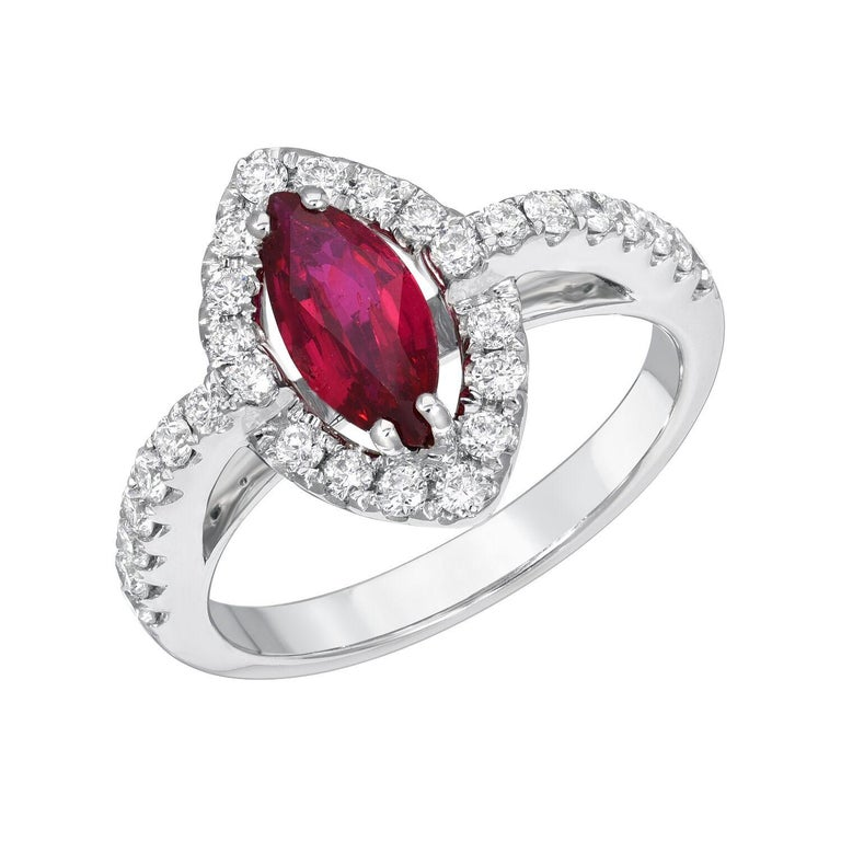 No Heat Ruby Ring 1.01 Carats GIA Certified Unheated For Sale 3
