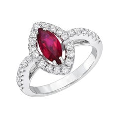 Natural Ruby Ring Unheated 1.01 Carats GIA Certified