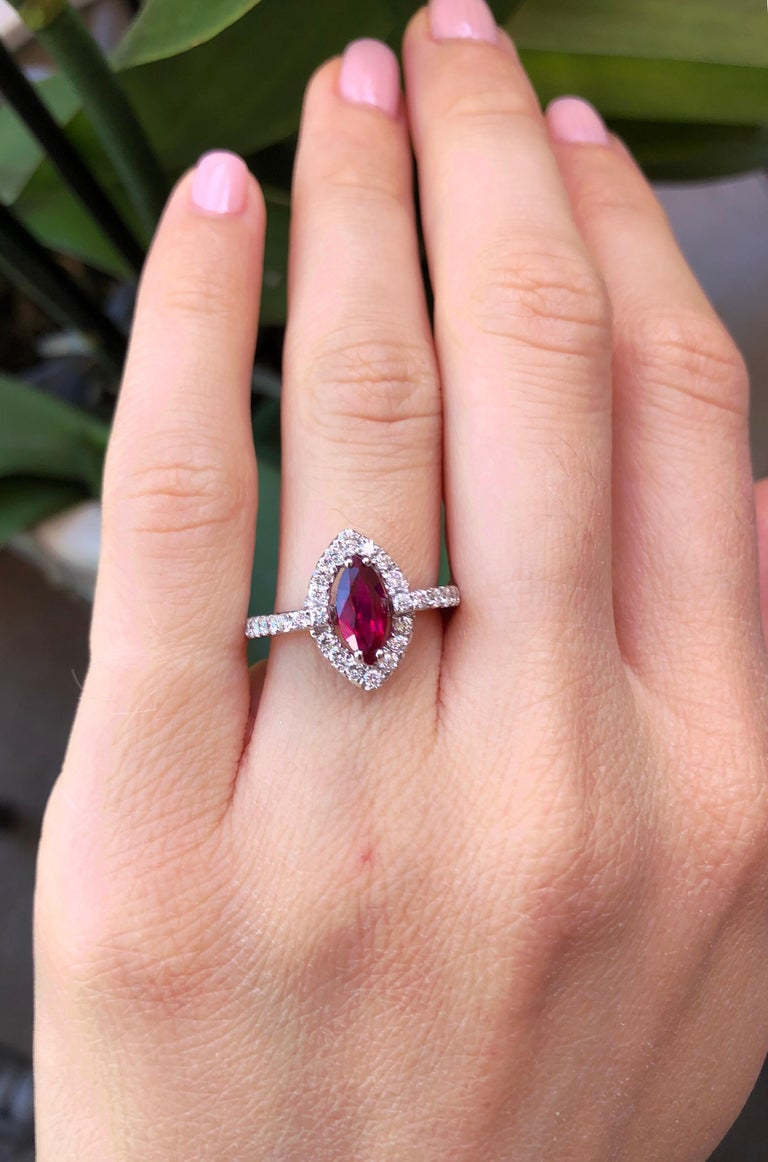 No Heat Ruby Ring 1.01 Carats GIA Certified Unheated For Sale 1