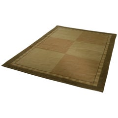 Natural Rug Made of Tibetan Wool, Geometric Blocks