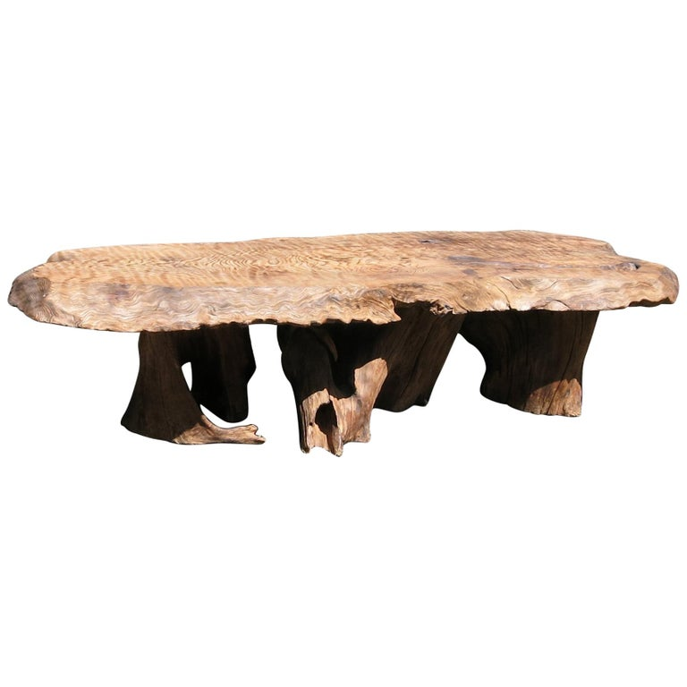 Groovy Natural Salvaged Wavy Wood Bench Or Coffee Table Root Base Gallery Bench Spiritservingveterans Wood Chair Design Ideas Spiritservingveteransorg