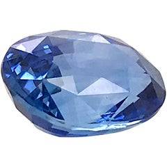 Natural Sapphire Certified Origin Sri Lanka Shape Oval Color Blue GRS Certificat