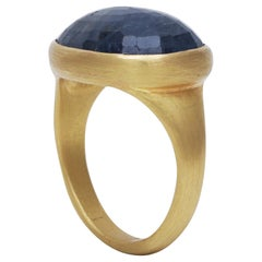 Natural Sapphire Ring Handcrafted in 22 Karat Gold