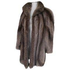 Natural Silver Raccoon Fur Coat