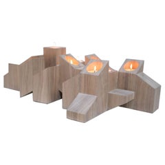 Natural Skyline Candle Light in African Walnut by Arno Declercq