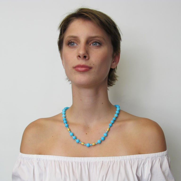 Artisan Natural Sleeping Beauty Turquoise Beads For Sale
