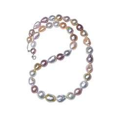 Natural South Sea Multicolored Necklace