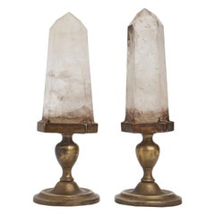 Natural Specimen Pair of Big Rock Cristals, Italy, 1880