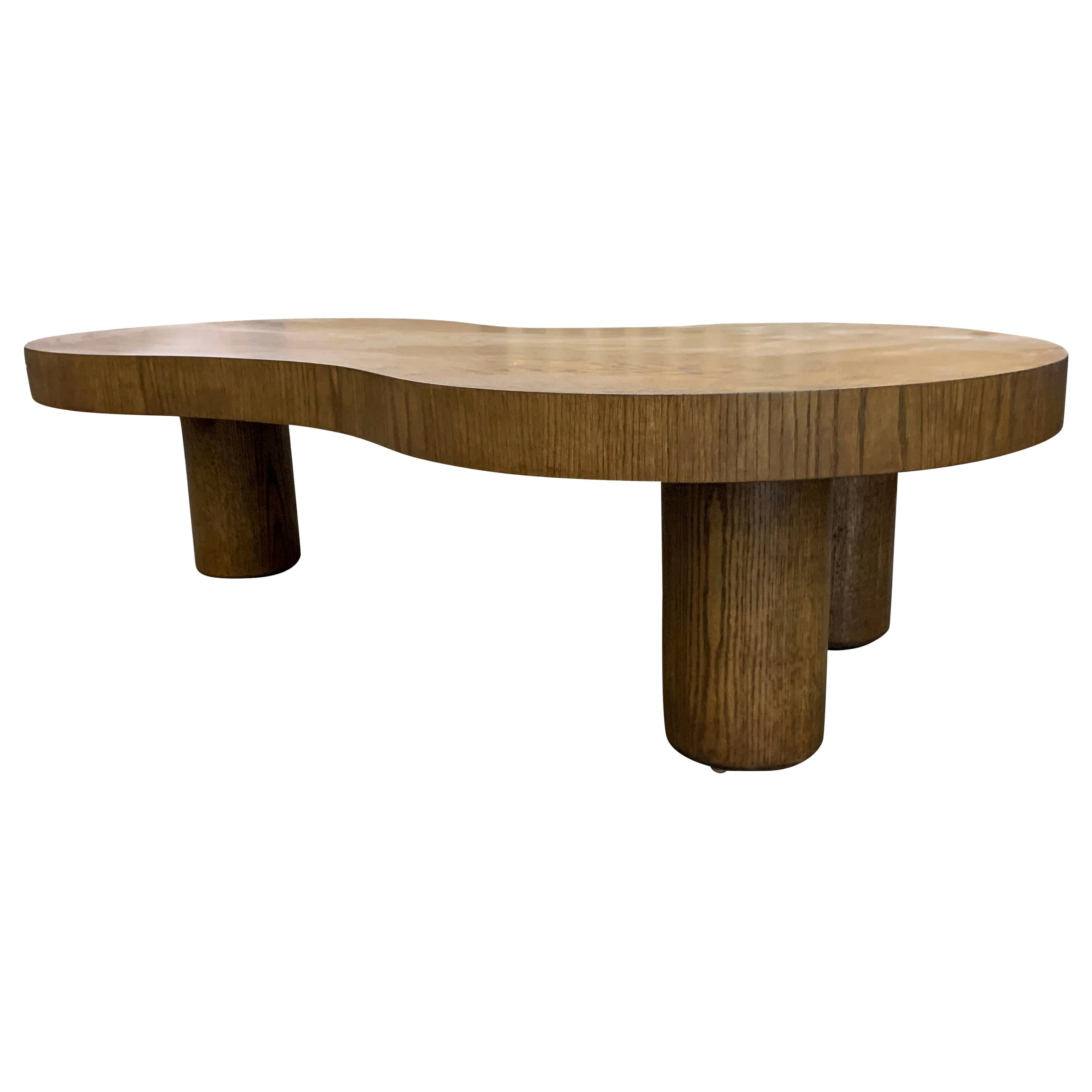 Natural Stained Oak Coffee Table