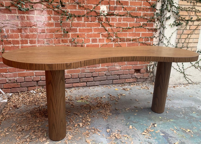 Contemporary Natural Stained Oak Desk For Sale