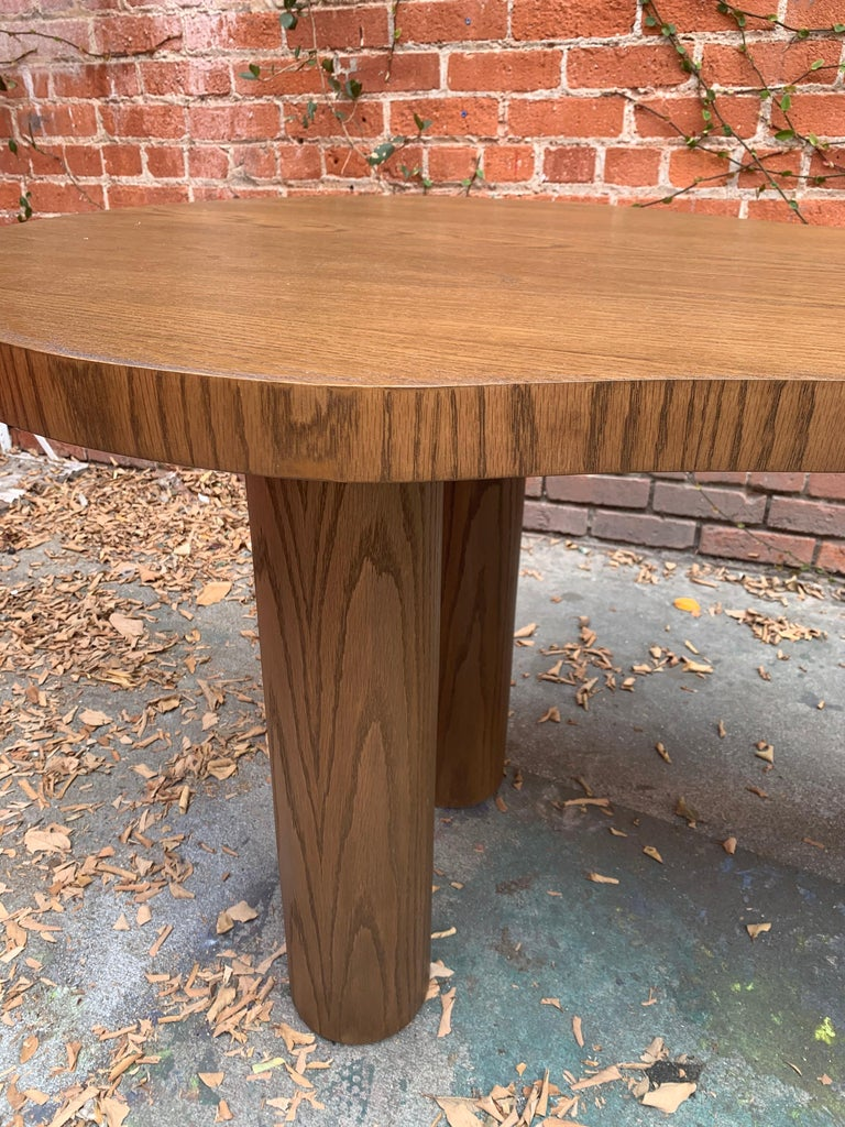 Natural Stained Oak Desk For Sale 1