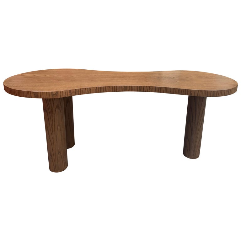 Natural Stained Oak Desk For Sale