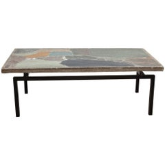 Natural Stone Mosaic Coffee Table by Paul Kingma