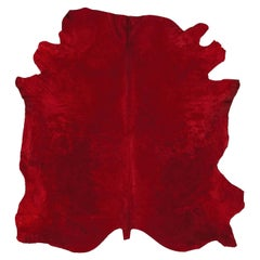 Natural Tanner Red Colored Leather Rug