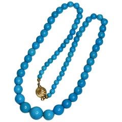 Natural Turquoise Beads Necklace