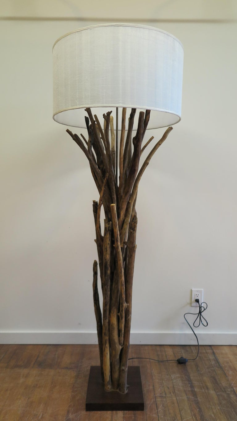 Natural Twig Driftwood Floor Lamp For Sale At 1stdibs
