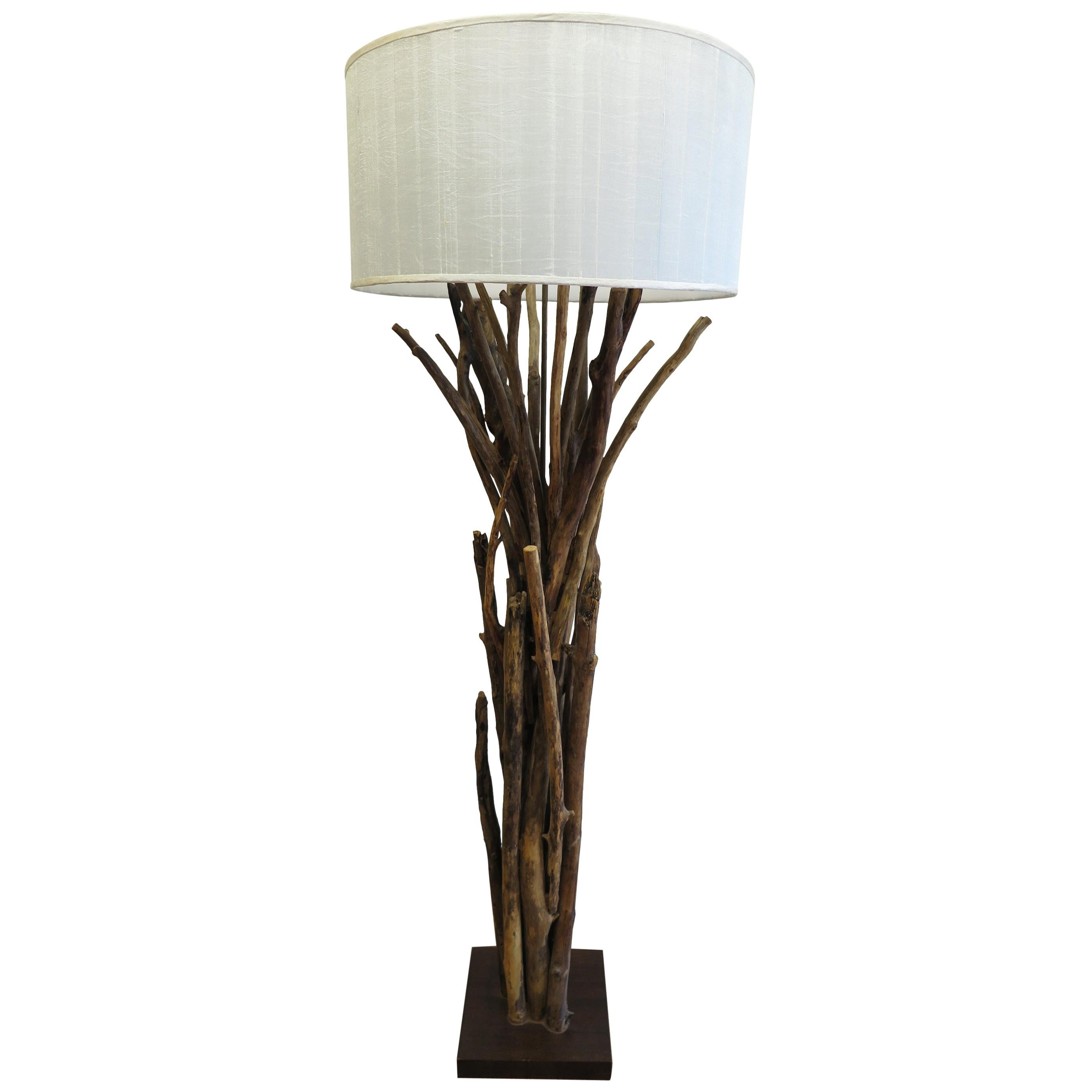 Natural Twig Driftwood Floor Lamp