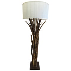 Natural Twig Driftwood Floor Lamp