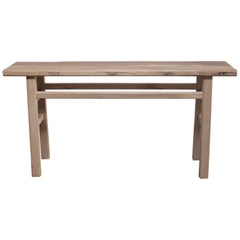 Natural Vintage Reclaimed Elmwood Console Table
