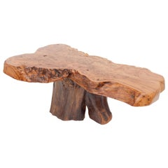 Natural Wabi Sabi Burl Wood  Coffee Table