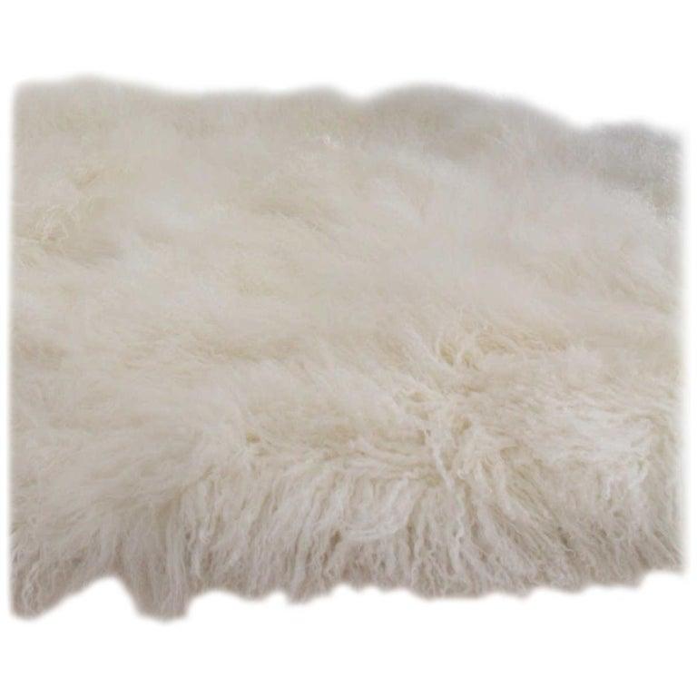 Mongolian Sheepskin Fur Rug