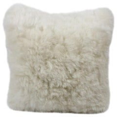 Natural White Sheepskin Pillow